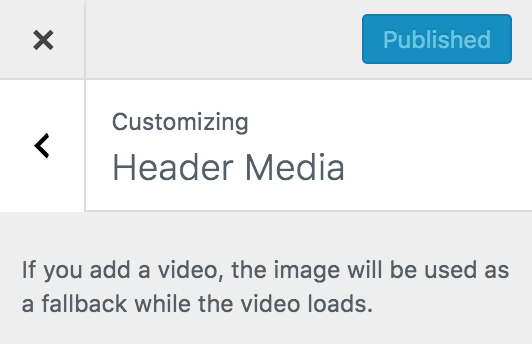 wordpress appearance customize header media