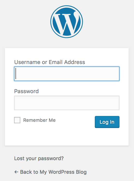 wordpress wp-admin