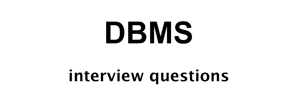 dbms interview questions with answers pdf