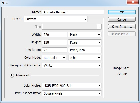 Create an animated banner using Photoshop - Photoshop