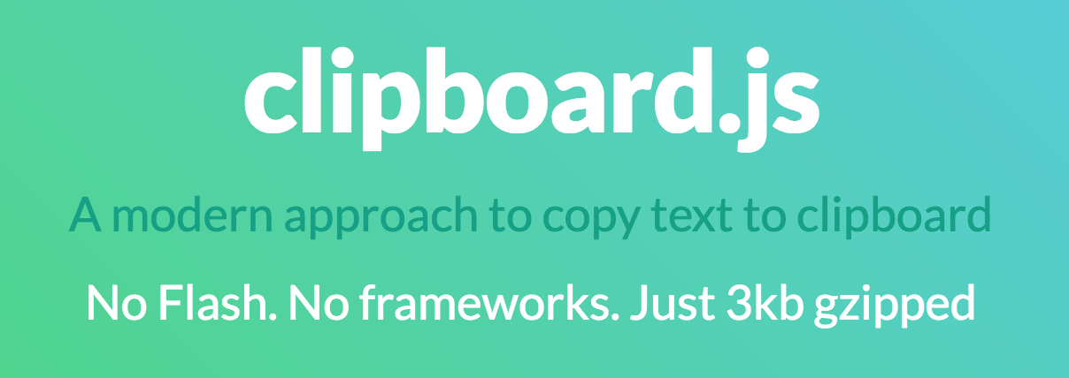 Copy text to clipboard in JavaScript using clipboard js