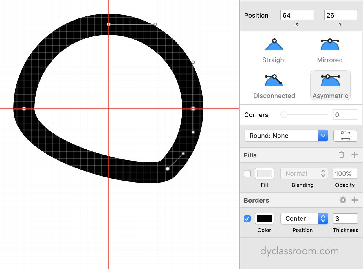 sketch app - gift icon - circle