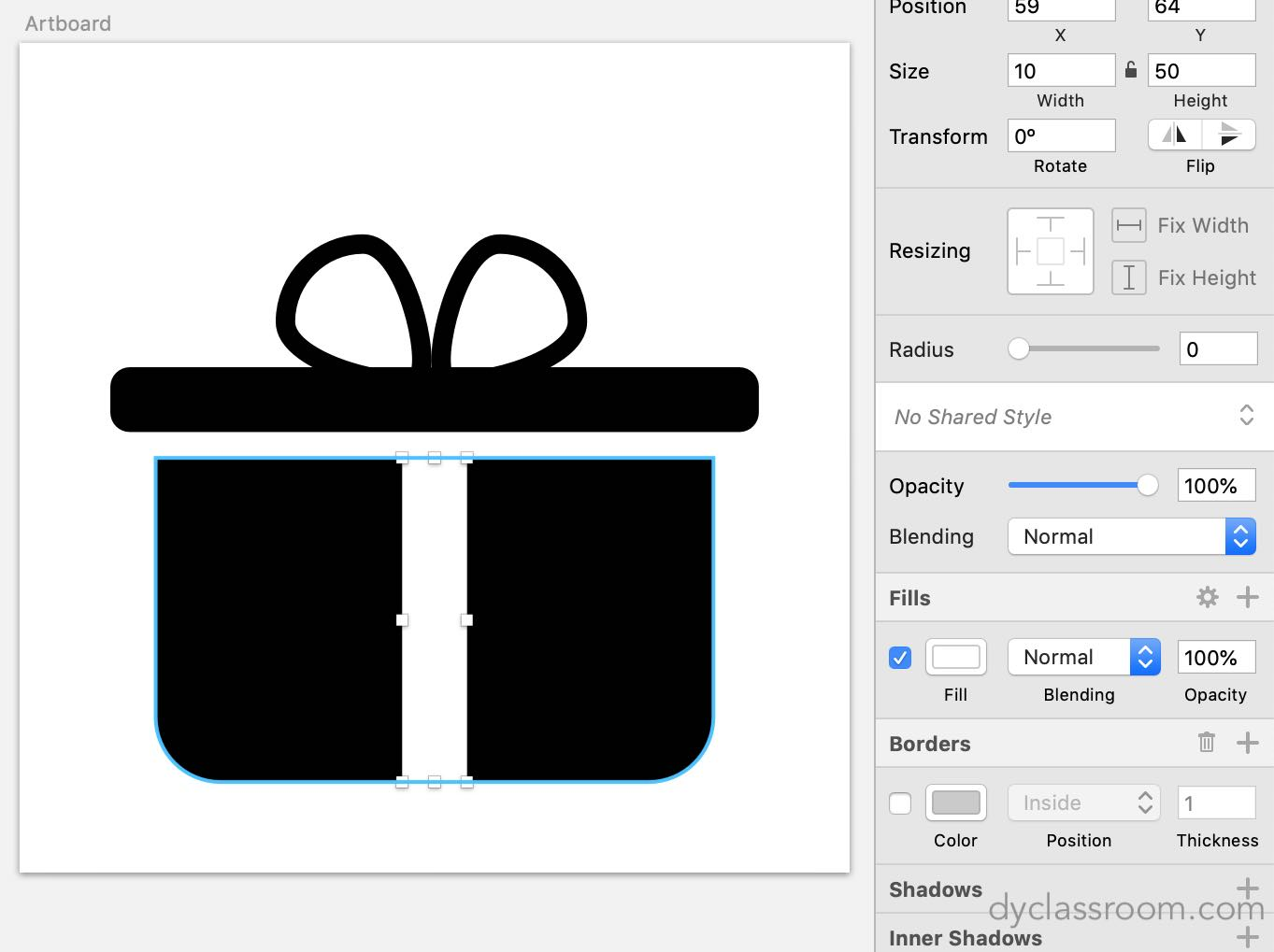 sketch app - gift icon - final