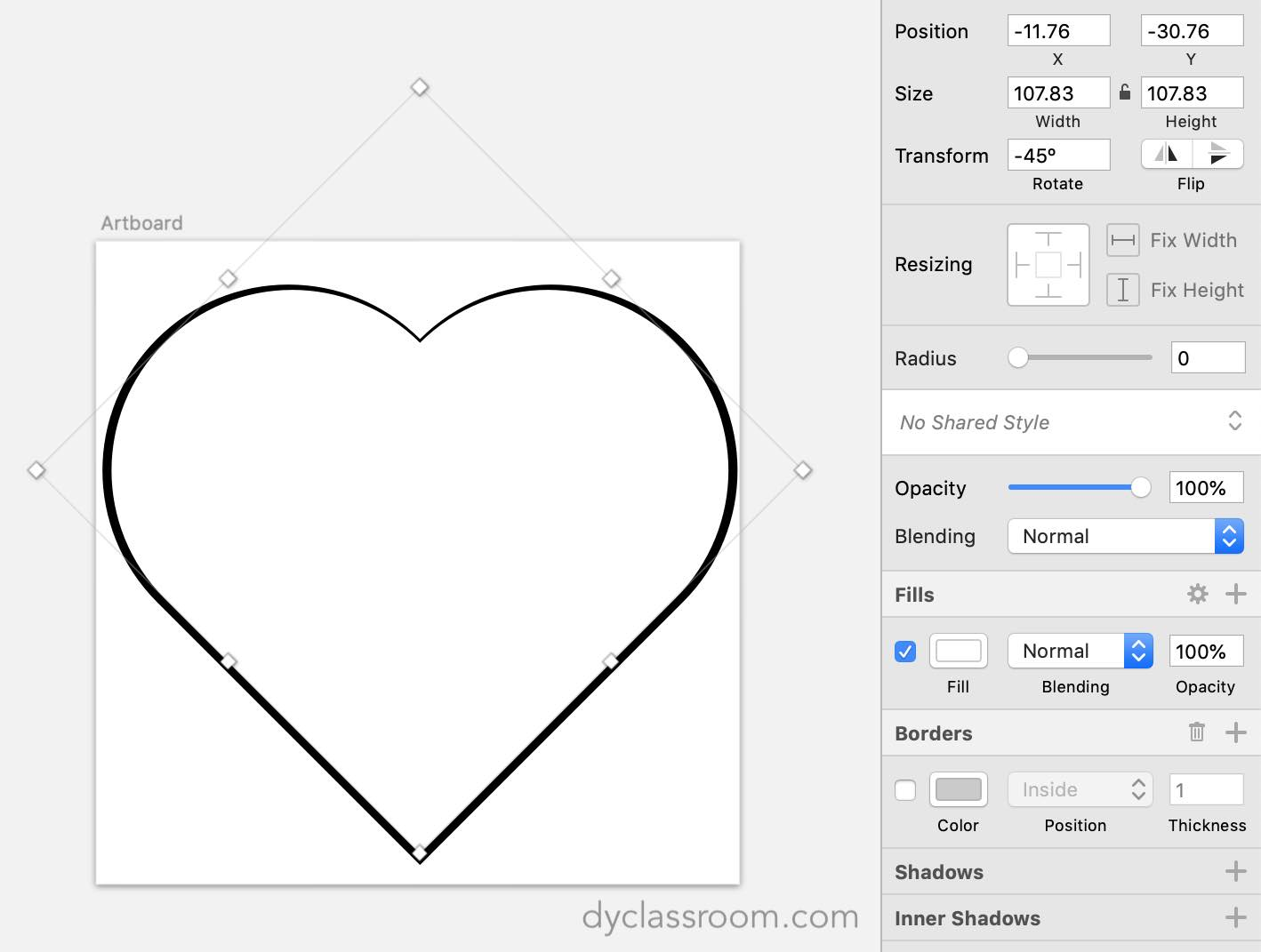 sketch app - heart icon