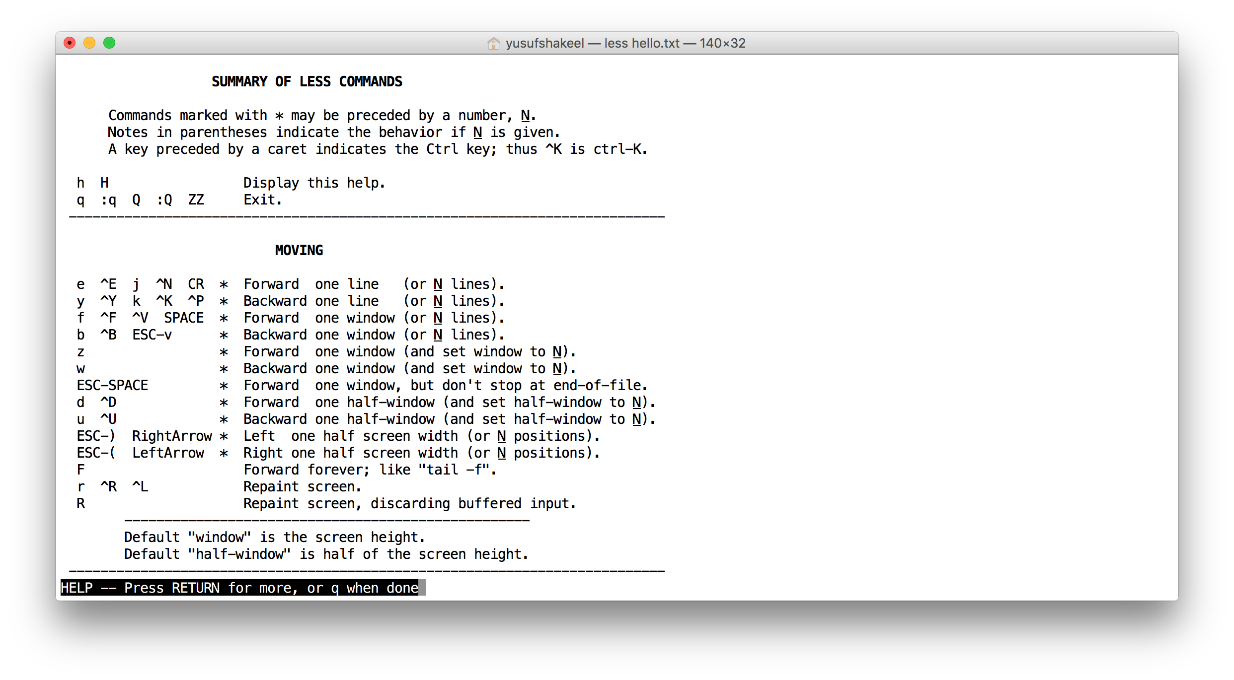 Less Command - Unix - DYclassroom | Have fun learning :-)